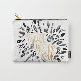Treat Yo Self Gold Carry-All Pouch