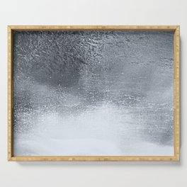 Ocean Mist - Minimal Grey Distressed Grunge Serving Tray