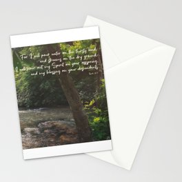 Isaiah 44 3 II #bibleverse #scripture Stationery Cards