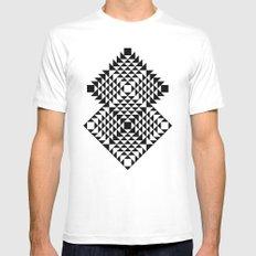 Geometric Tribal Mens Fitted Tee White MEDIUM
