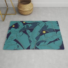 fireflies in the foliage Rug