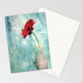 flower in vase Stationery Cards
