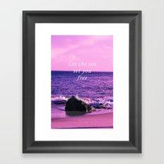 Set you free Framed Art Print