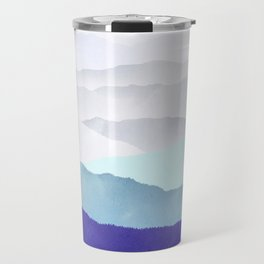 MOUNTAINS minimalist print Travel Mug