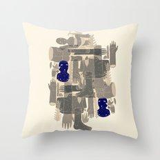 two blue bodys Throw Pillow