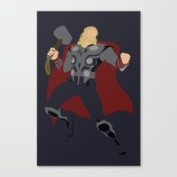 thor Canvas Prints featuring Thor by TracingHorses