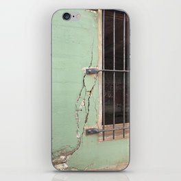 Cracked concrete wall at Battery Mendell on Fort Barry iPhone Skin