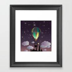 Balloon Aeronautics Night Framed Art Print
