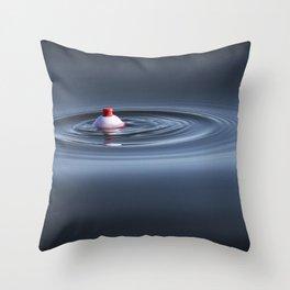 Bobber Fishing Nibble Throw Pillow