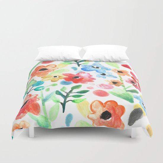 Flourish - Watercolor Floral Duvet Cover