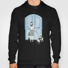 Lady With Two Dogs Hoody