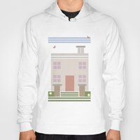 house Hoodies featuring House  by Latoya's playhouse