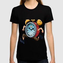 Clock Man Running T-shirt