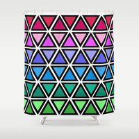 triangle Shower Curtains featuring Triangle by Laura Maria Designs