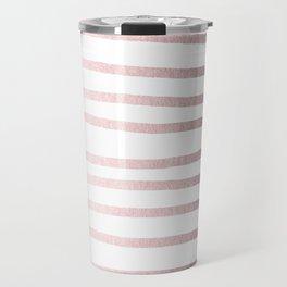 Simply Drawn Stripes Rose Gold Palace Travel Mug