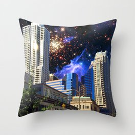 View of NGC3603 from Chicago, IL Throw Pillow