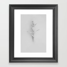 typography for a silent language Framed Art Print