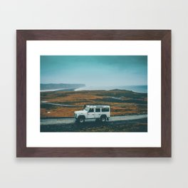 Defender on the Road Framed Art Print