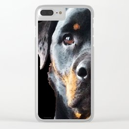 Rottie Love - Rottweiler Art By Sharon Cummings Clear iPhone Case