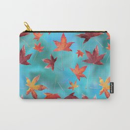 Dead Leaves over Cyan Carry-All Pouch