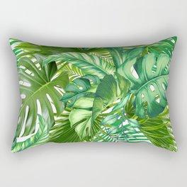 green tropic Rectangular Pillow