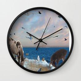 Lake side gatherings Wall Clock