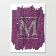 Winter clothes II. Letter M Canvas Print