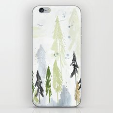 Into the woods woodland scene iPhone & iPod Skin