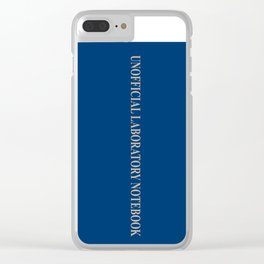 Unofficial Laboratory Notebook Clear iPhone Case