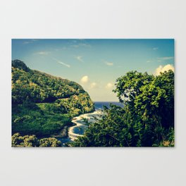 Honomanu Highway to Heaven Road to Hana Maui Hawaii Canvas Print