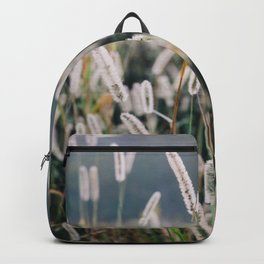 Whimsical Tall Grass Nature Field Landscape Photo Backpack