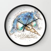 narwhal Wall Clocks featuring Narwhal by Morgan Ofsharick - meoillustration