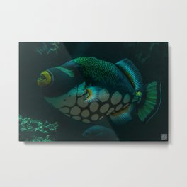 Polka Dot Fish Metal Print