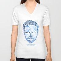 jesse pinkman V-neck T-shirts featuring Crystallized Morality - Jesse Pinkman by Tyler Schmidt