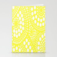 yellow pattern Stationery Cards featuring Pattern Yellow by Wildflowers and Grace