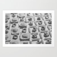 pasta Art Prints featuring Pasta by Isabel Martinez Isabel