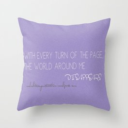 World Disappears Throw Pillow
