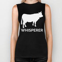 Cow Whisperer Biker Tank