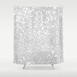 Chic elegant glamour white faux glitter Shower Curtain