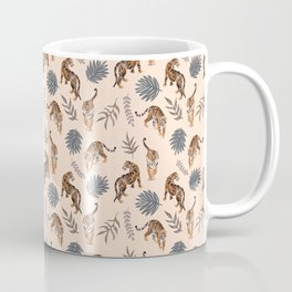 Strolling Tigers Pattern - Peachy Coffee Mug