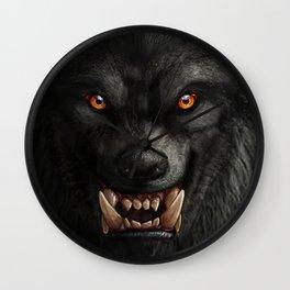 Creepy Art, Halloween, Werewolf, Horror Art Wall Clock