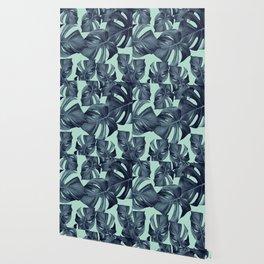 Monstera Leaves Pattern #10 #tropical #decor #art #society6 Wallpaper