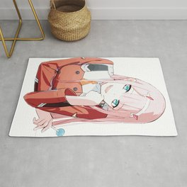 Zero Two from Darling in the Franxx Rug