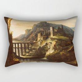 "Théodore Géricault ""Evening. Landscape with an Aqueduct"" Rectangular Pillow"