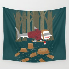 LumberJack Shark Wall Tapestry