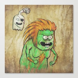 RSxSF series - Muscle Man & High Five Ghost Canvas Print