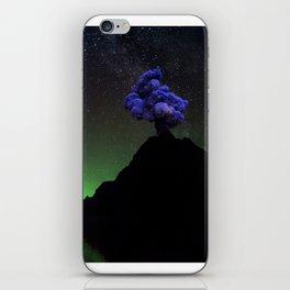 Smoke Signal on Mountain Long into Night Sky iPhone Skin
