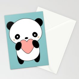 Kawaii Cute Panda Heart Stationery Cards