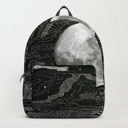 Full moon between the clouds Backpack