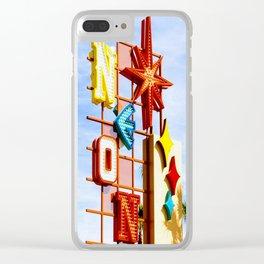 Neon Boneyard Clear iPhone Case